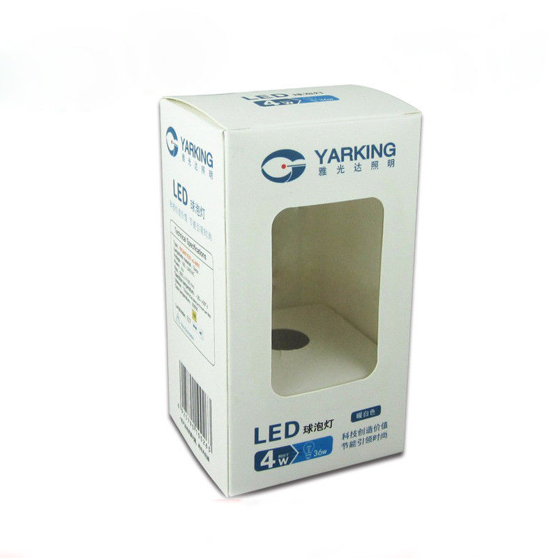 Environmental CMYK Printing Led Packaging Box UV Effect PVC With Window