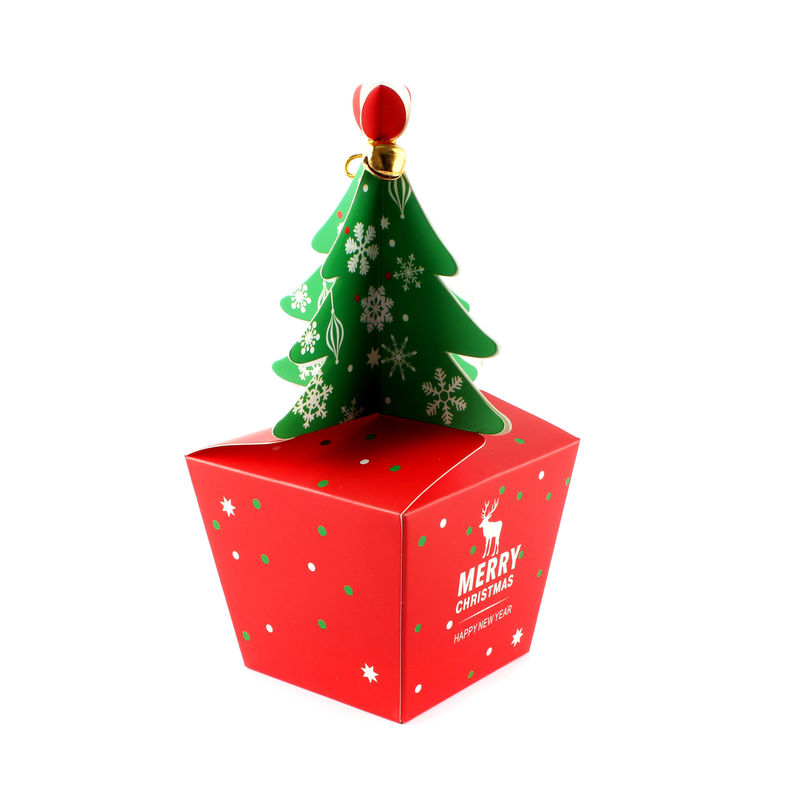 Funny Christmas Packaging Boxes Tree Box Logo Printing Small Gift Boxes